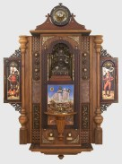 Christopher Bales – One Nation, Indivisible mixed media assemblage, 45x33x10″