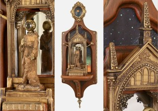 Christopher Bales – The Visitor Mixed media assemblage, 22×7.5×4.5″