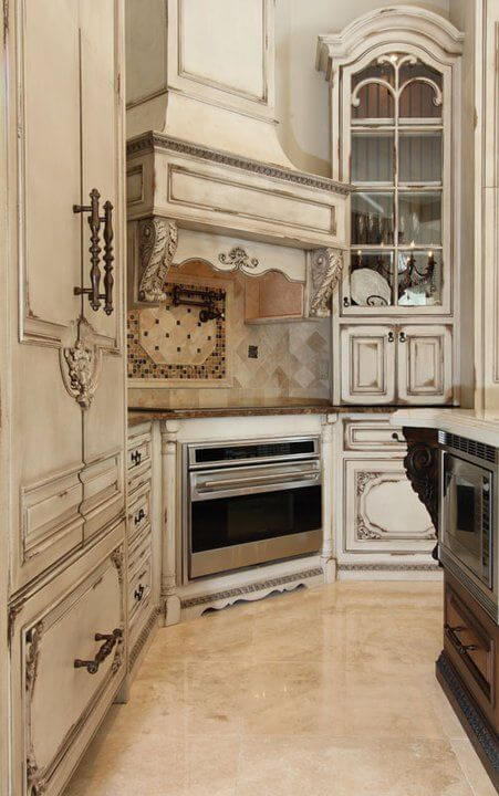 Medium image of antique style kitchen cabinets