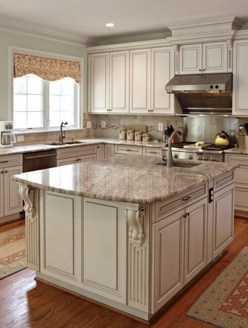 Lovely Antique White Kitchen Cabinets Amazing Design