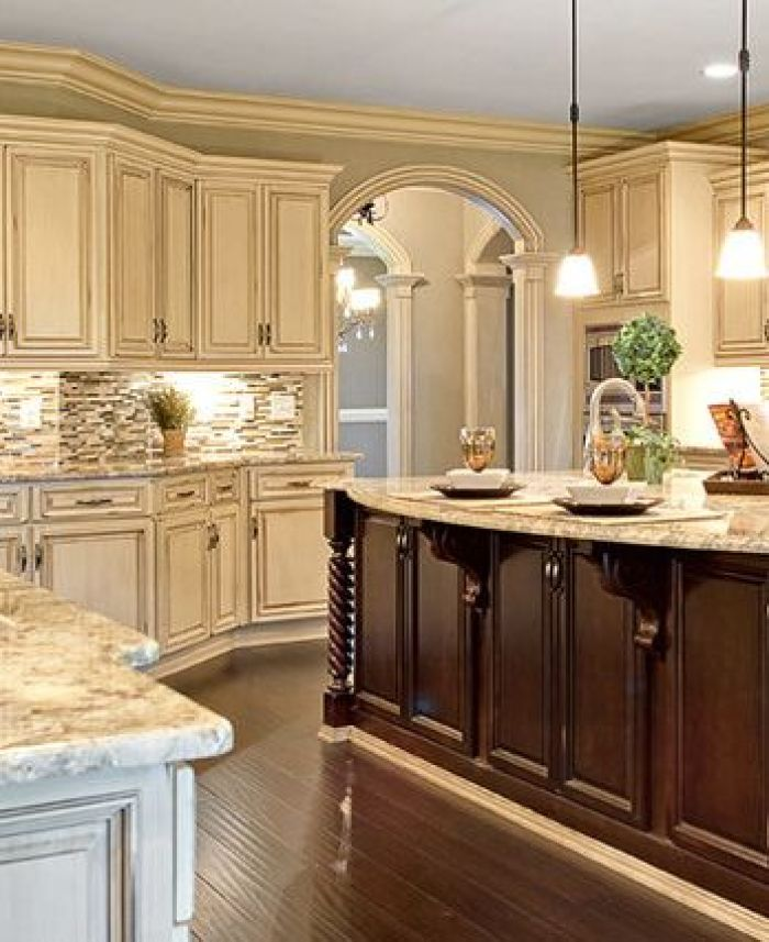 25 antique white kitchen cabinets ideas that blow your for White kitchen wall color