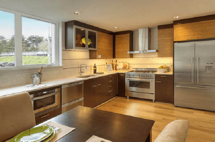L Shaped Kitchen With Island Kitchen Layouts