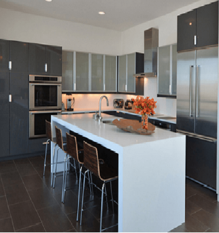 Contemporary Metal Kitchen Cabinets