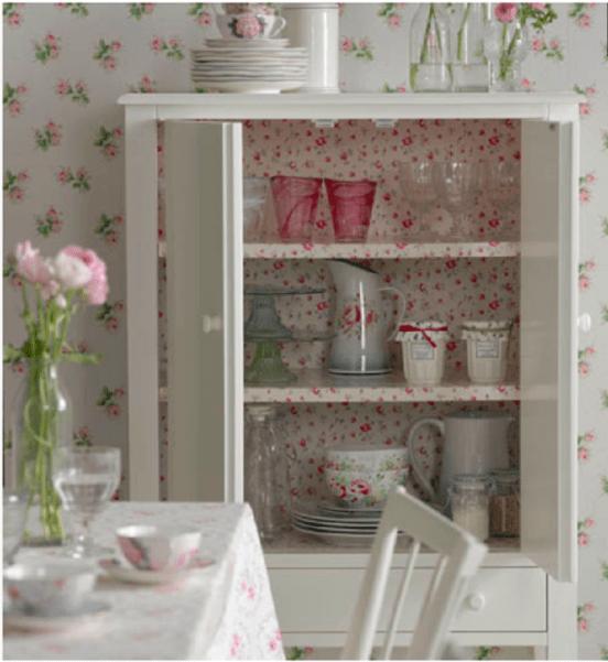 kitchen wallpaper pink
