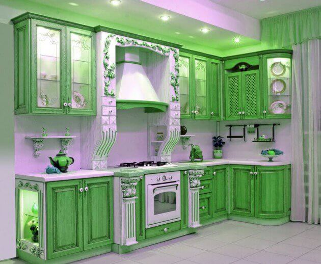 15 Inspiring Design Ideas: 15+ Green Kitchen Cabinets Design, Photos, Ideas & Inspiration