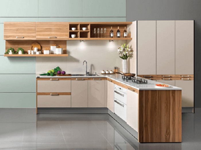 L Shaped Kitchen Cupboard Designs