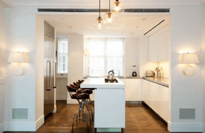 Beau L Shaped Kitchen Design With Island