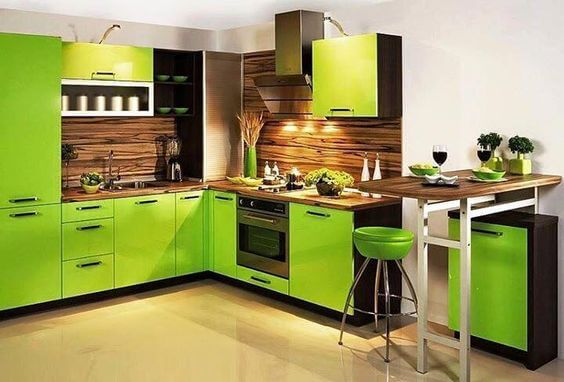 Green Kitchen Design Ideas Part - 32: Lively Green Kitchen Design Ideas