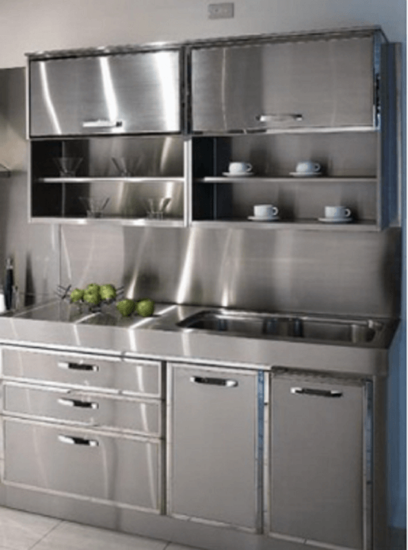 30 metal kitchen cabinets ideas style photos remodel and decor rh reverbsf com metal frame kitchen cabinets metal kitchen cabinets vintage