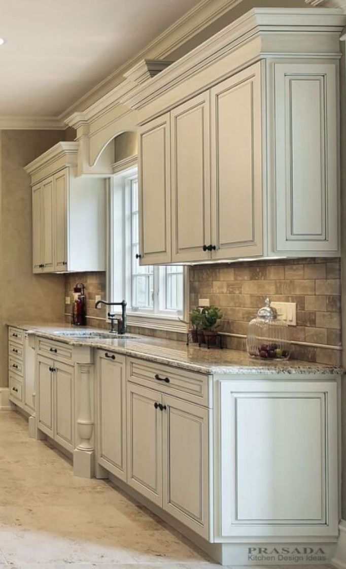distressed white kitchen cabinets - 25 Antique White Kitchen Cabinets Ideas That Blow Your Mind - Reverb