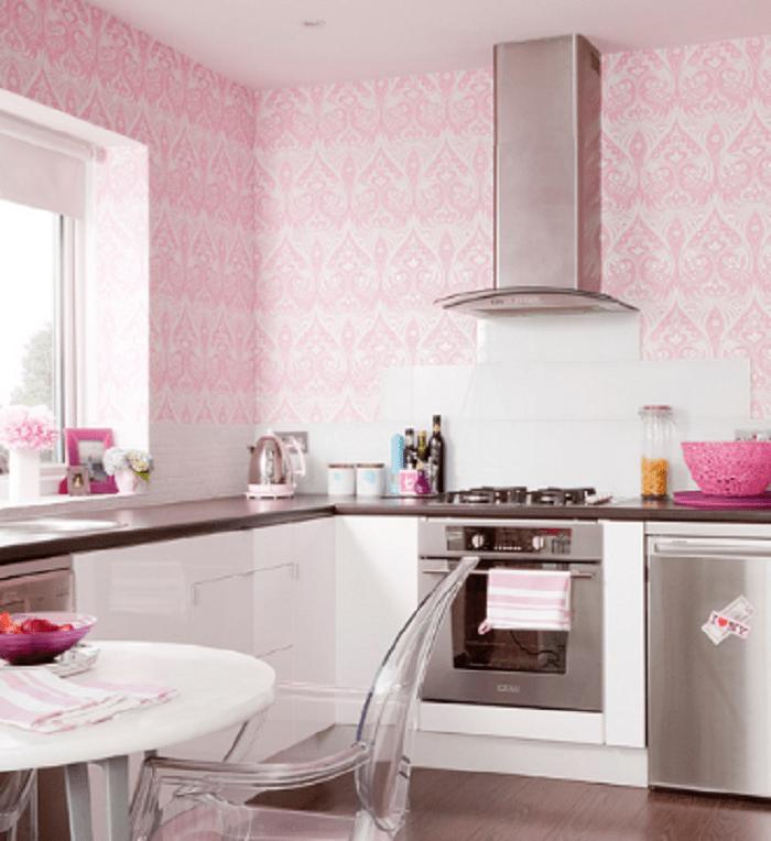 kitchen wallpaper red
