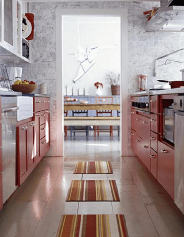 Red Galley Kitchen Ideas