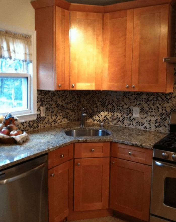 Captivating Corner Kitchen Sink Cabinet