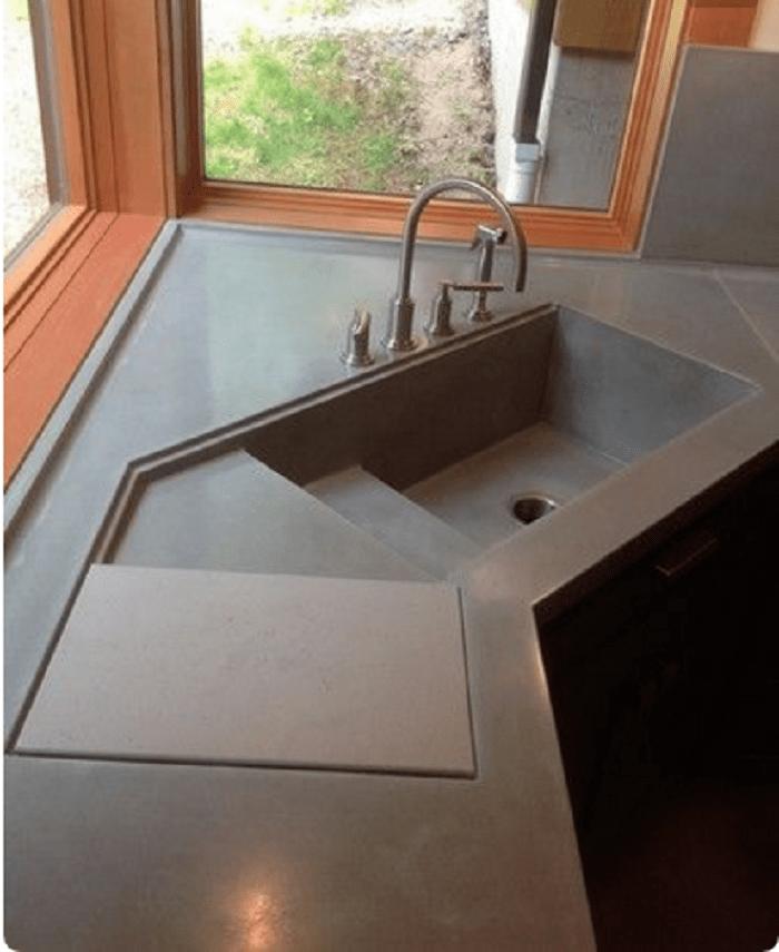 Modern Corner Kitchen Sink. Ceramic Kitchen Sinks