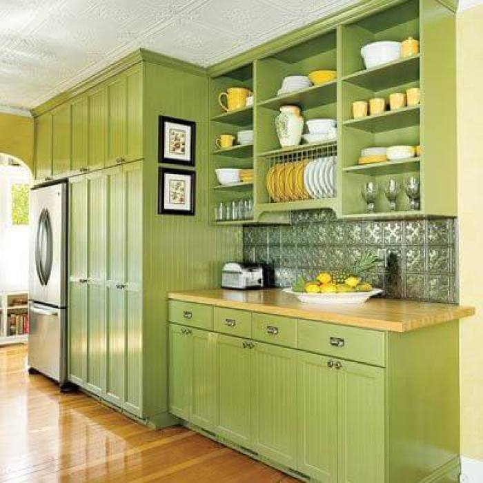 Green Kitchen Cupboard Ideas