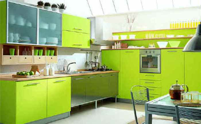 neon green kitchen cabinets ideas
