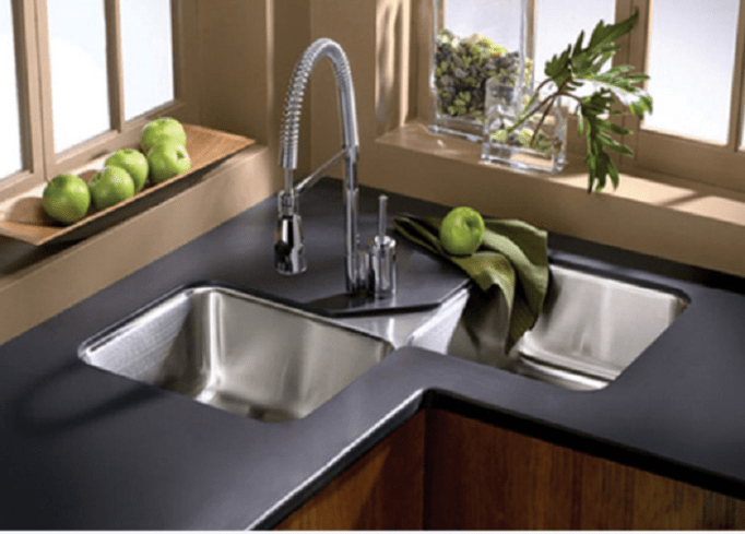 double corner sinks for kitchens, black corner sinks for kitchens, elkay corner sinks for kitchens, kohler corner sinks for kitchens, on undermount corner sinks for kitchens