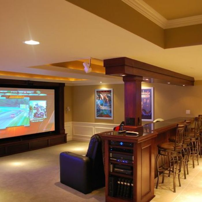 Tips For Home Theater Room Design Ideas: 27 Cool Basement Home Theater, Ready To Entertain