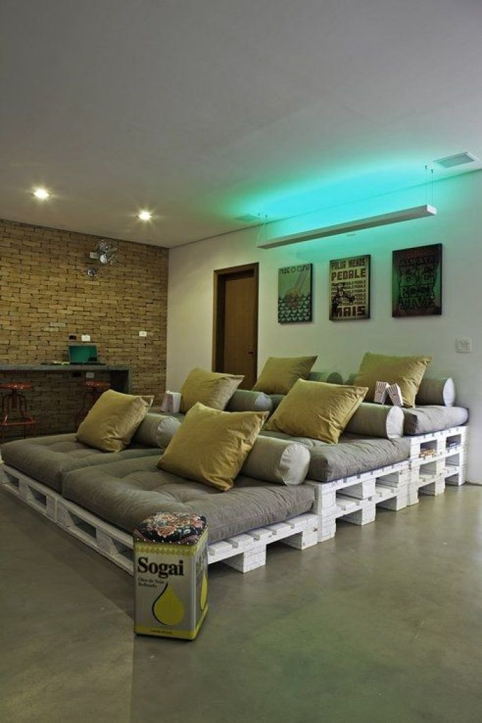 Basement Home Theater Seating Ideas