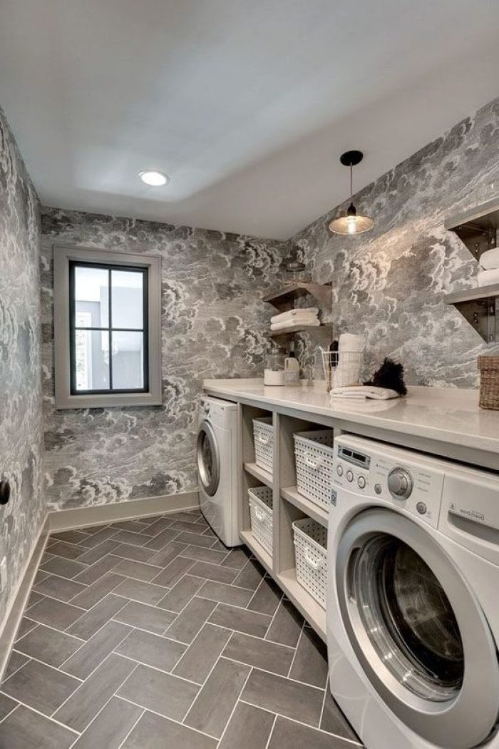 22 amazing basement laundry room ideas that ll make you love for Laundry room floor ideas