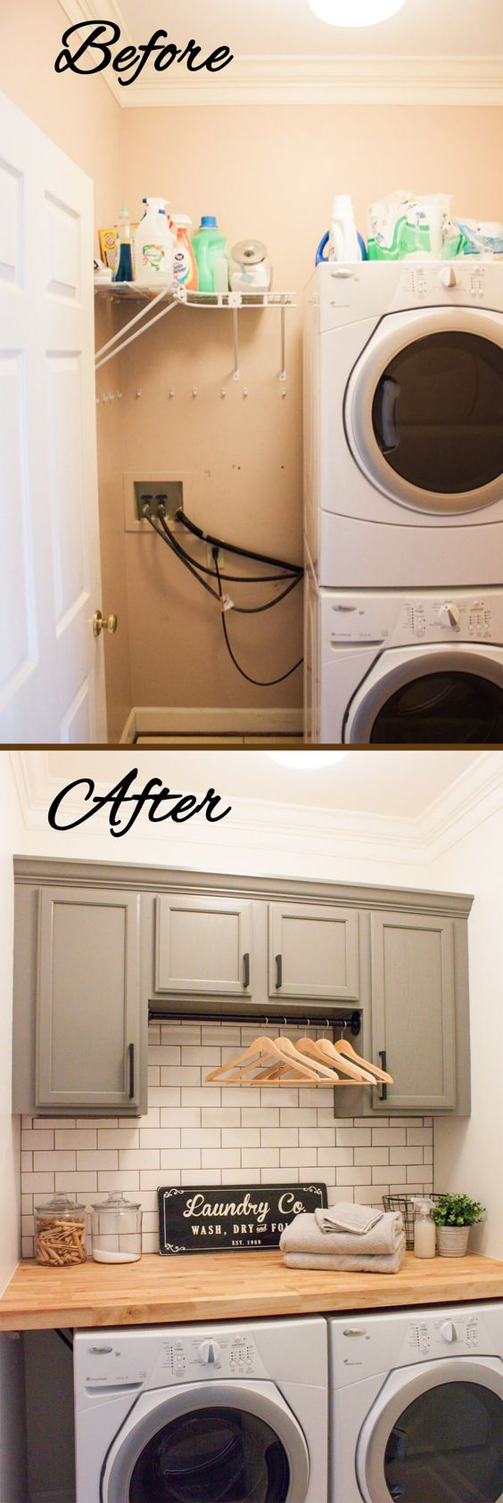 22 amazing basement laundry room ideas that ll make you love rh reverbsf com Minimalist Closet Before and After Faced to the Laundry Room Entry