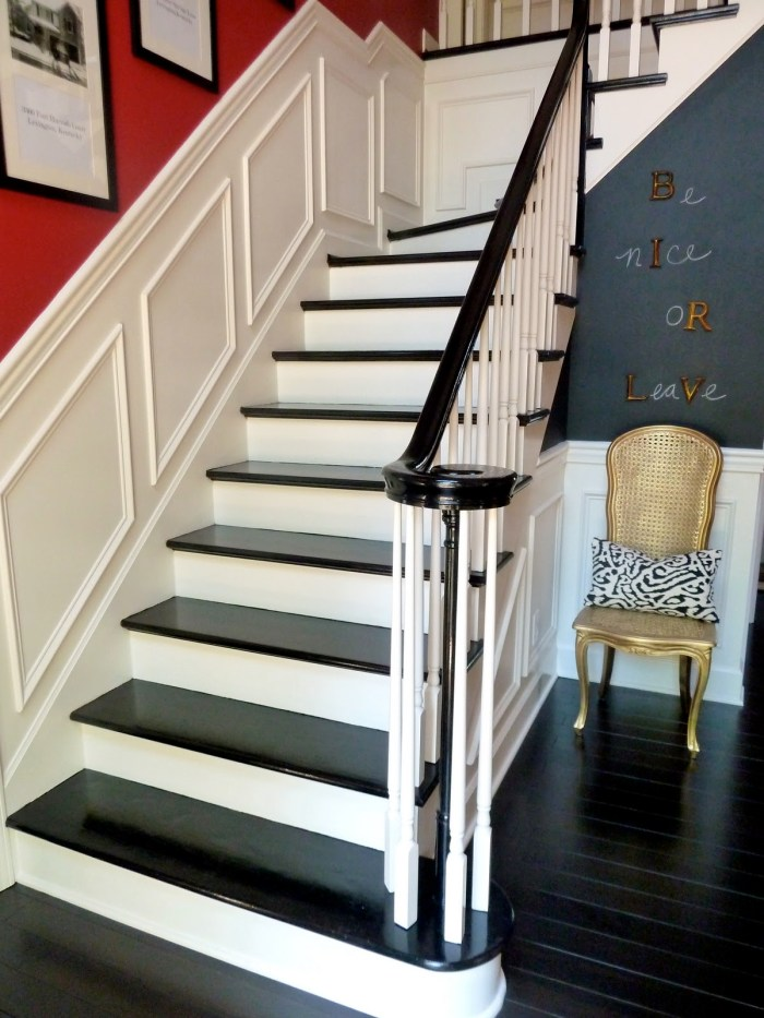 ≫21 Attractive Painted Stairs Ideas Pictures Painting