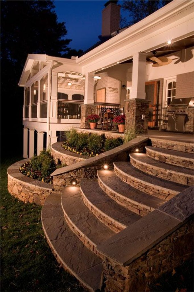 Exterior Stairs Lights Ideas