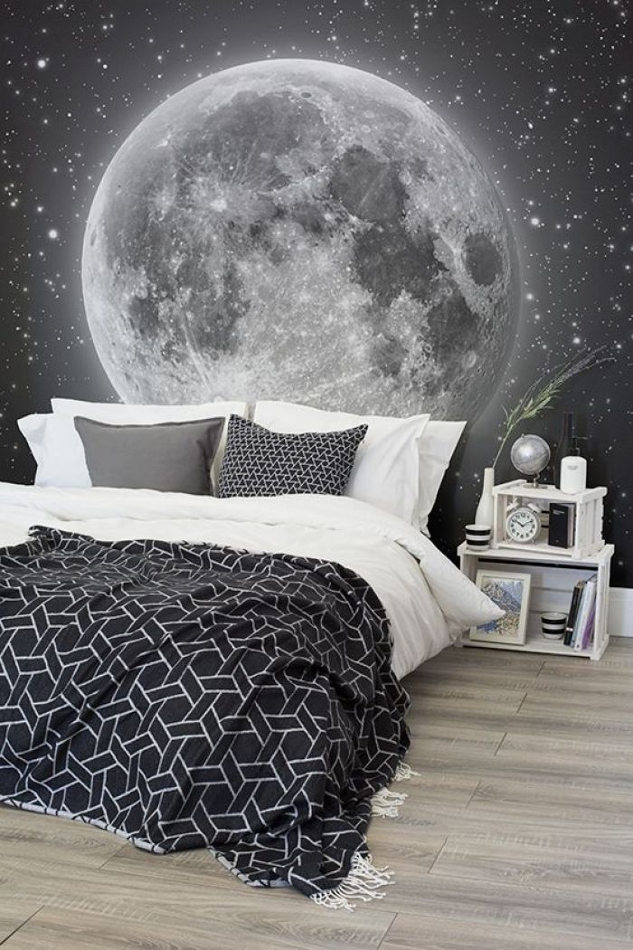 Space Themed Boys Room - Glow In The Dark Tapete