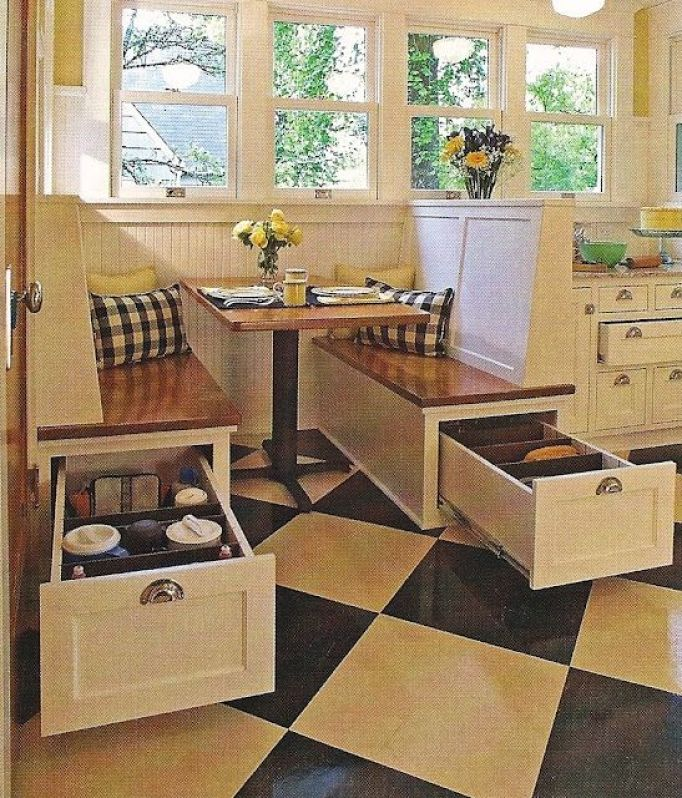 Breakfast Nook With Storage