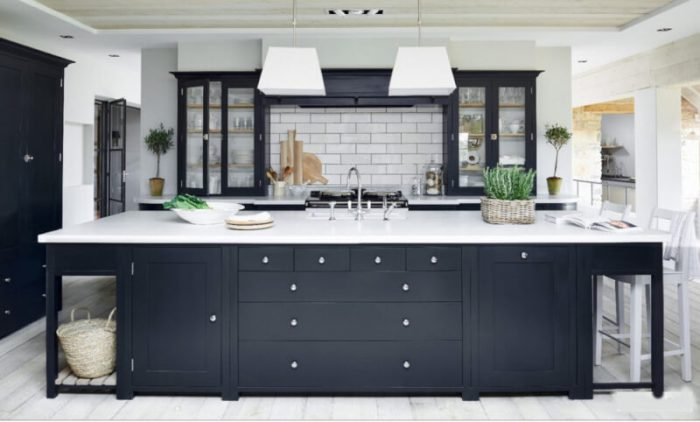 dark gray kitchen cabinets