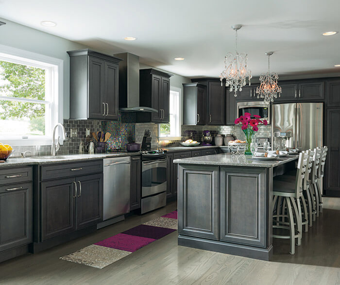 White Stain Kitchen Cabinets: 12 Best Designs Ideas Gray Kitchen Cabinets [amazing]