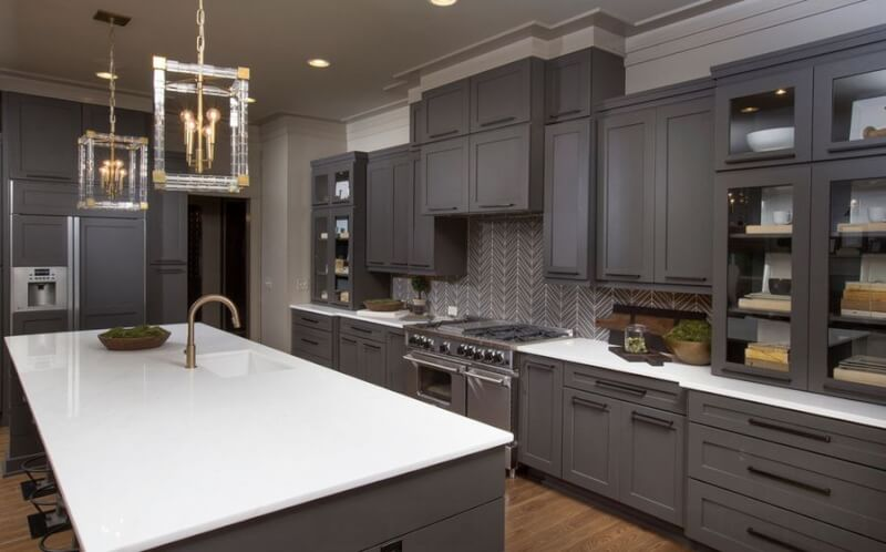 Best Designs Ideas Gray Kitchen Cabinets Amazing Reverb - Dark grey cupboard paint