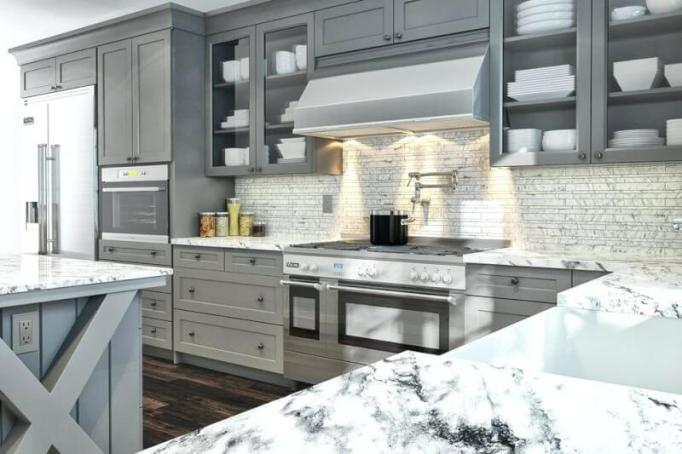 gray kitchen cabinets ideas
