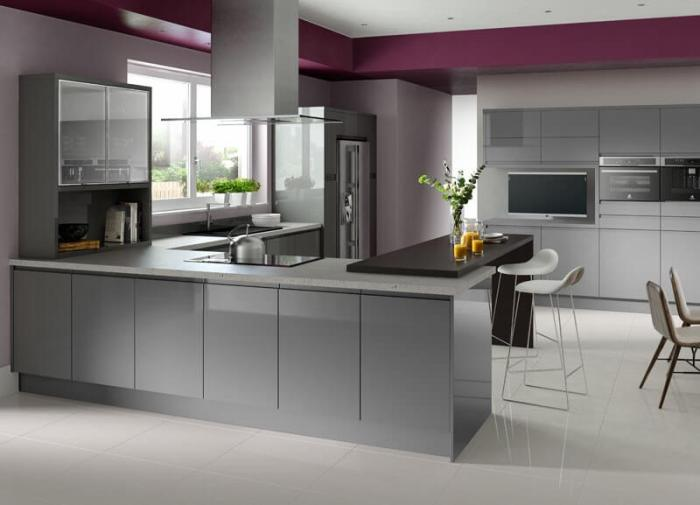 light grey gloss kitchen cabinets