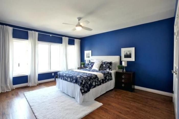 Navy Blue Bedroom Design