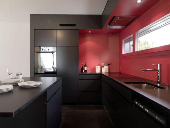 Black Matte Kitchen Cabinets
