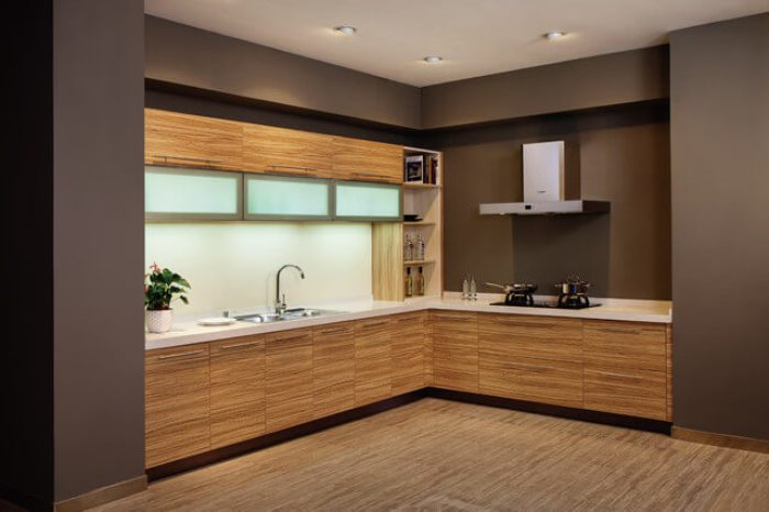 Melamine Modern Kitchen Cabinet
