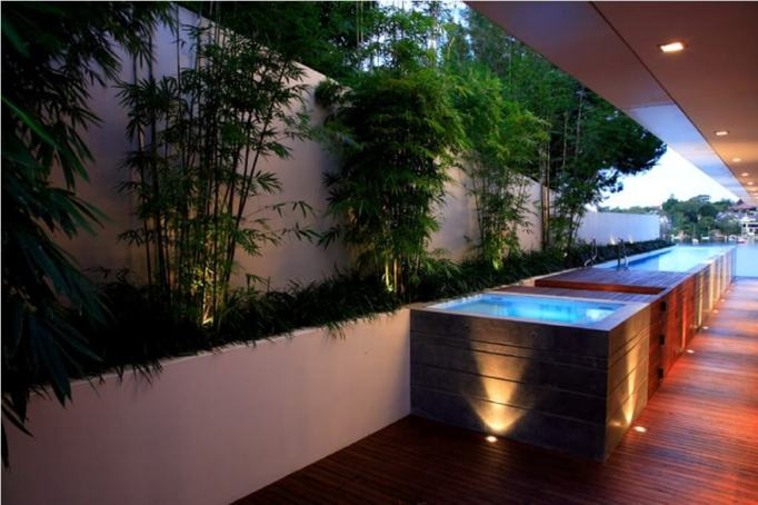 Above Ground Pool with LED Lights