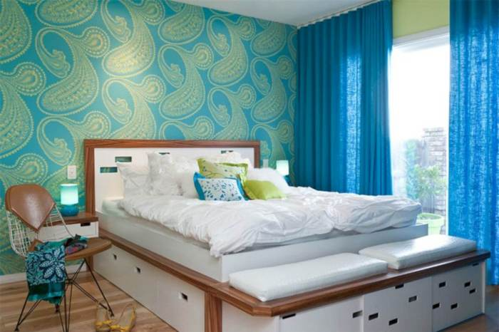 mid century modern bedroom design ideas