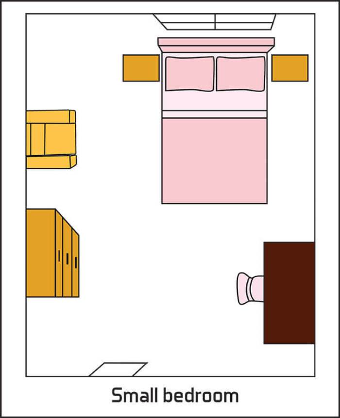Layout Idea For Small Bedroom