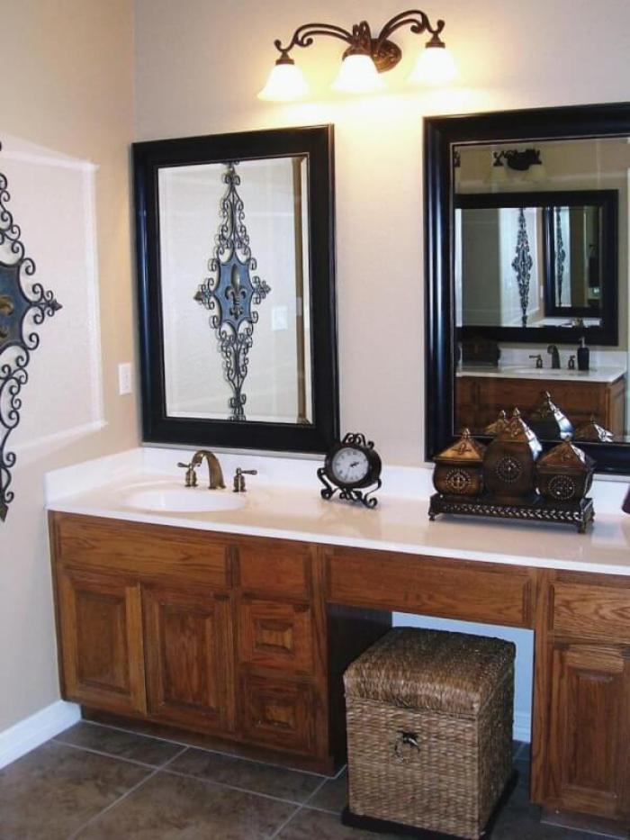 Two Mirrors for One Vanity