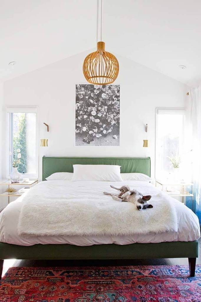 mid century modern bedroom lighting