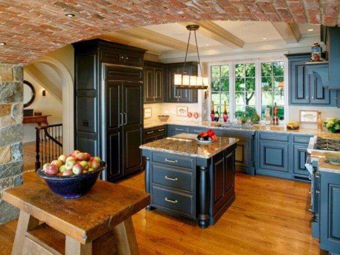 antique blue kitchen cabinets - 14 Marvelous Designs Of Blue Kitchen Cabinets - Reverb