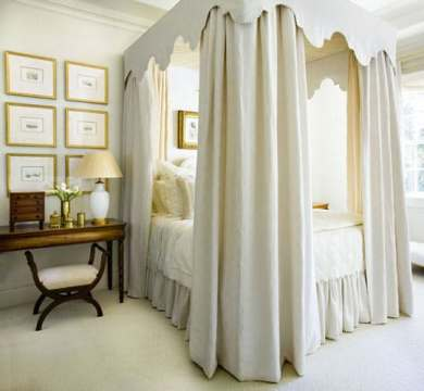 15 Canopy Bed Curtains That Might Suit Your Fancy   Reverb canopy bed curtain