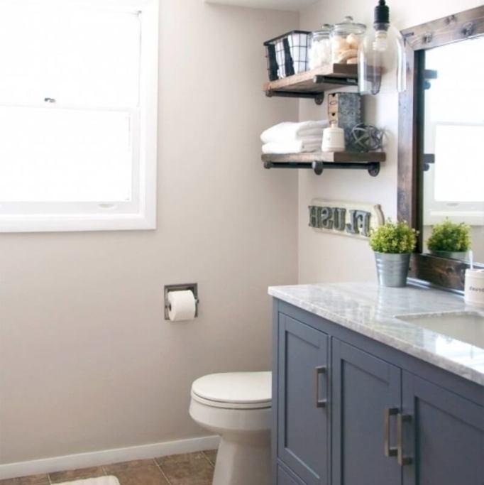 farmhouse style bathroom vanity