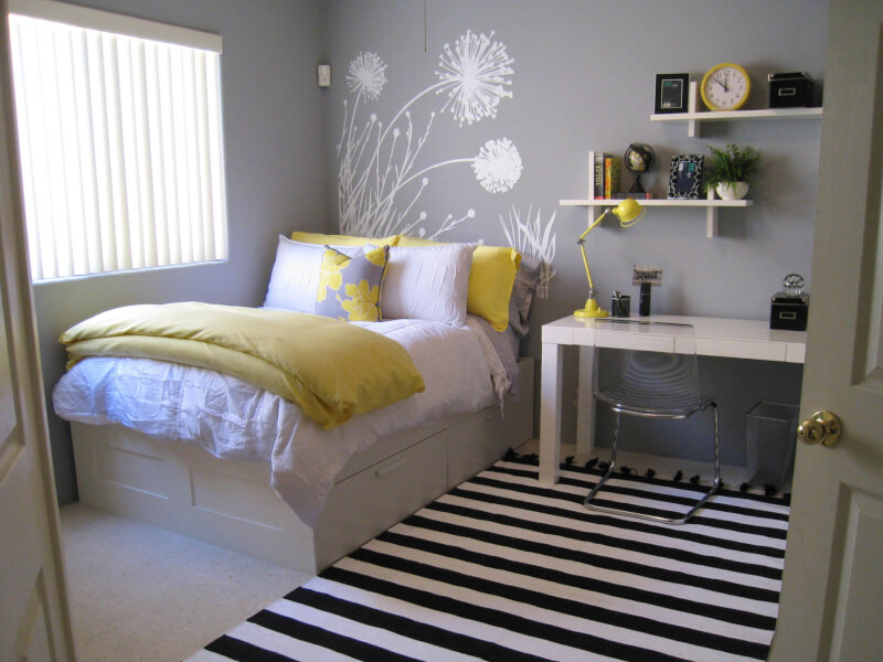 Woman's Bedroom with Office