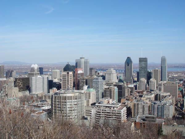 Point de vue depuis le parc du mont royal à Montréal