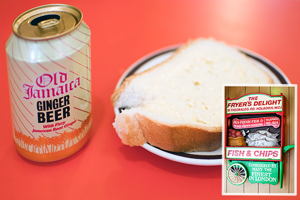 ginger beer et bred with butter