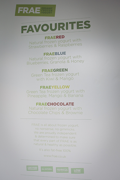 FRAE organic frozen yogurt londres