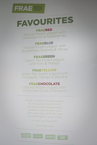 FRAE organic frozen yogurt londres